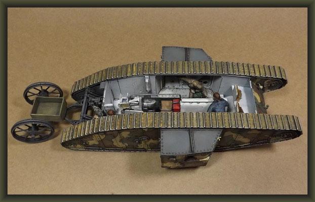 British Mk I 'Male' Tank, Diorama 1/35, Stage 16