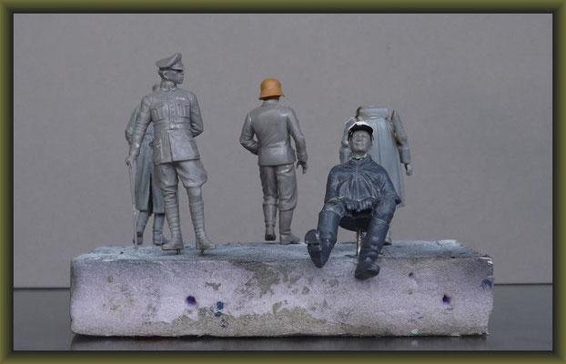 Schwerer Proviantwagen, Diorama 1:35, Building Stages