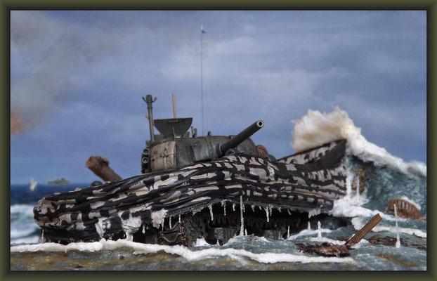 The Shipping News, Sherman V (M4A4) DD, Diorama 1:35