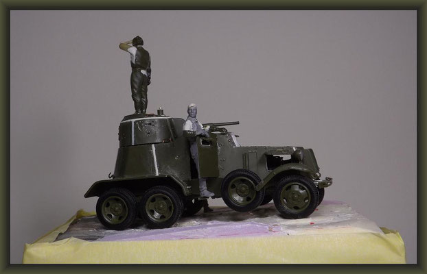 Soviet Armored Car BA-10A, Zvezda 3617, Building Report, Diorama 1:35