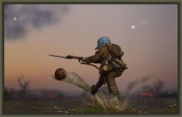 'Let Loos', WWI Vignette, 54mm Figure Conversion, Completion