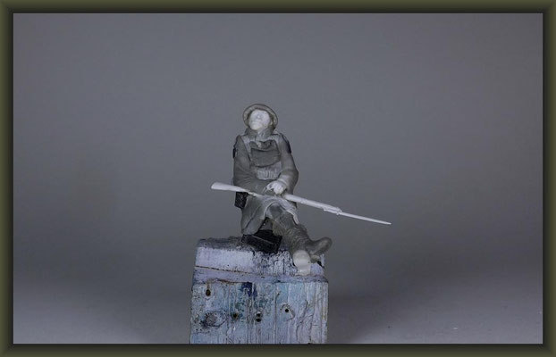 WWI Vignette, 54mm, Building Stages