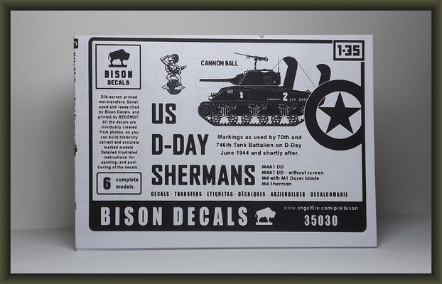 Bison Decals 35030 US D-Day Shermans