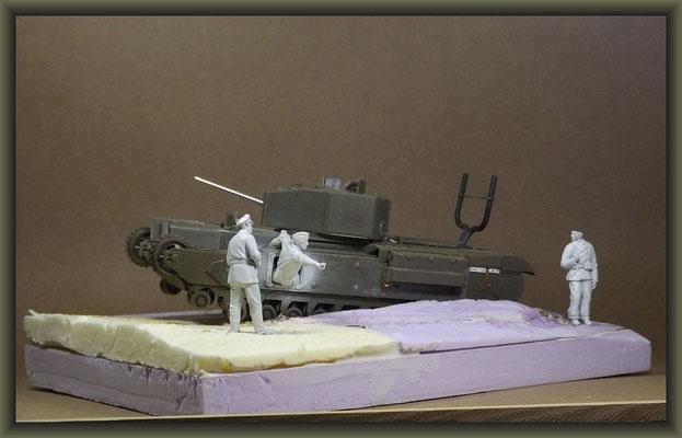 Churchill Mk.III Dieppe Raid Ver. ; Diorama 1/35 ; Stage 3