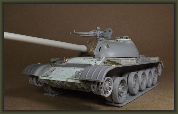 T-54-3 Tank, Diorama 1:35, Building Report Part 4