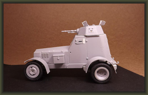 Polish Armored Car Wz.34, Diorama 1:35, Building Stages