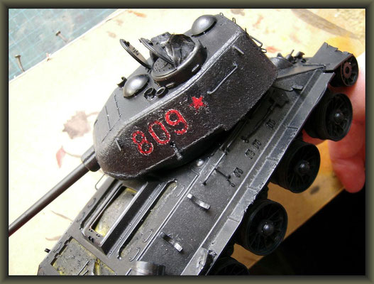 T-34/85 Composite ; Diorama 1/35 ; 3. Stage