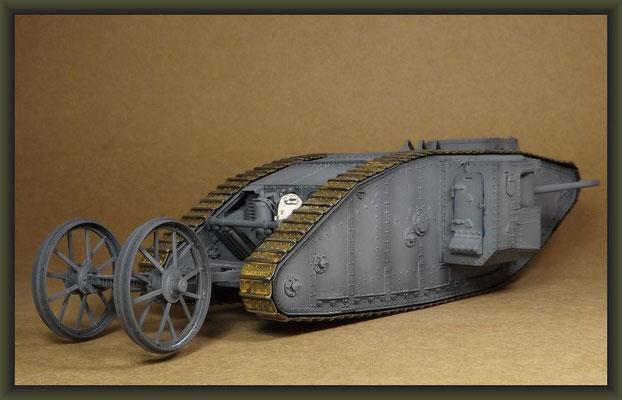 British Mk I 'Male' Tank, Diorama 1/35, Stage 13