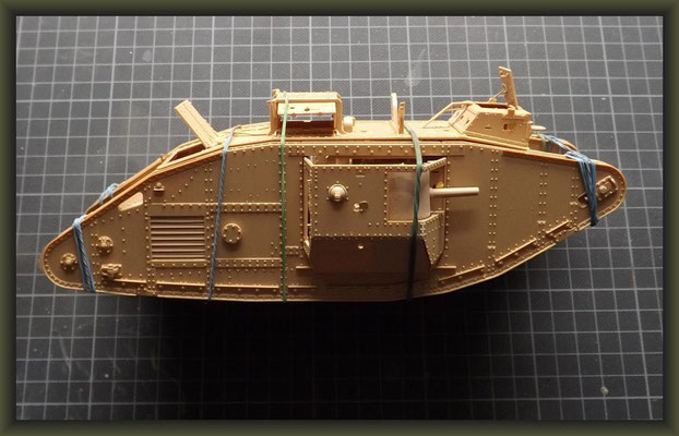 British Mark V 'Male' Tank, Diorama 1:35, Building Report