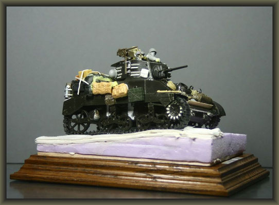M5A1 Stuart ; Diorama 1/35 ; 4. Stage