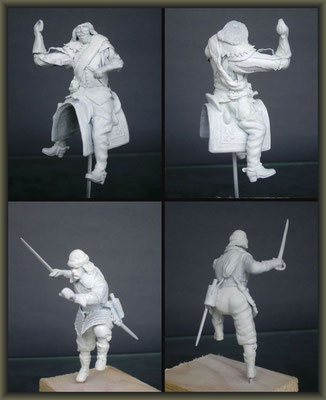 'The Wooden Horse' ; 54mm Airfix Figure Conversion ; 2. Stage
