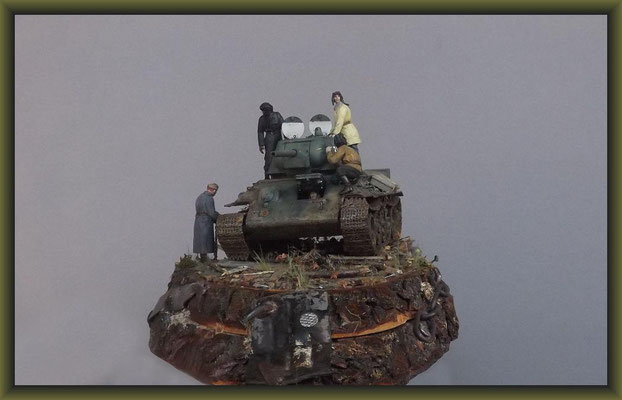 """Improvisenation"", T34/76, 1943 Production Model Tamiya MM159, Diorama 1:35, Completion"