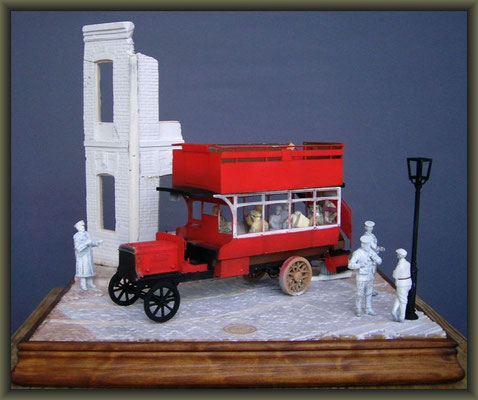 Airfix WWI Old Bill Bus ; Diorama 1/32 ; 2. Stage
