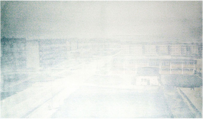 <b>Neubausiedlung 2</b><br />2006<br />Acryl auf Baumwolle<br />120 cm x 200 cm