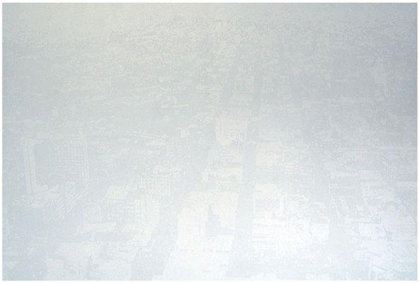 <b>City</b><br />2006<br />Acryl auf Baumwolle<br />140 cm x 245 cm