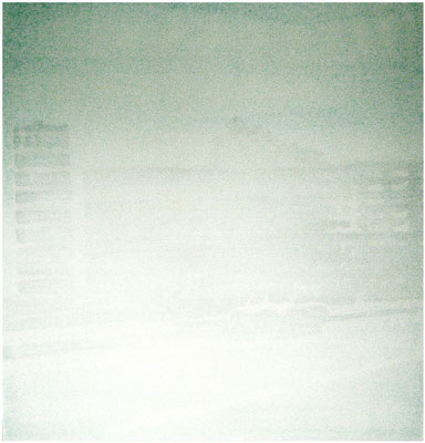 <b>Parkplatz</b><br />2006<br />Acryl auf Baumwolle<br />100 cm x 100 cm