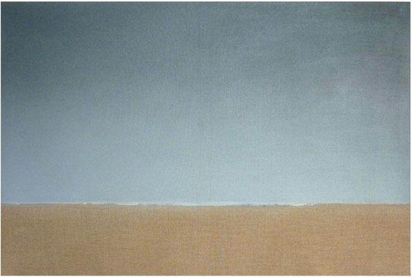 <b>Ohne Titel</b><br />2014<br />Acrylfarbe auf Leinen<br />100 cm x 150 cm