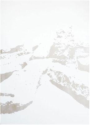 <b>Landschaft 13</b><br />2010<br />Dispersion und Lack auf Papier<br />180 cm x 135 cm