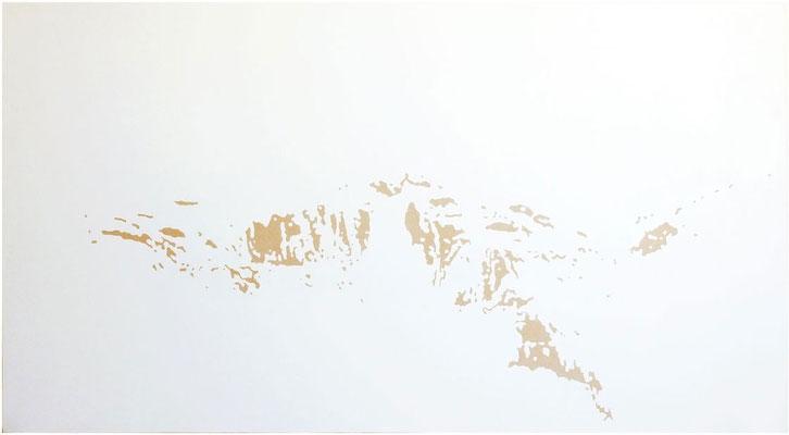 <b>Landschaft 12</b><br />2010<br />Dispersion und Lack auf Papier<br />110 cm x 150 cm