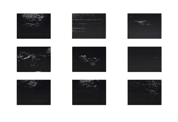 <b>Mare Nostrum</b><br />2020<br />Tusche, Acrylfarbe und Lack auf Papier<br />  Bild je 30 cm x 40 cm x 5 cm