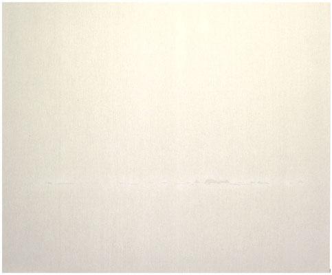 <b>Horizont 2</b><br />2011<br />Sepiatusche und Acryllack auf Leinen<br />140 cm x 170 cm