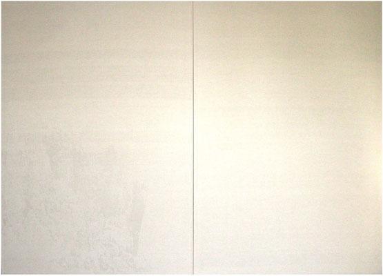 <b>Landschaft 5</b><br />2008<br />Sepiatusche und Acryllack auf Leinen<br />190 cm x 280 cm