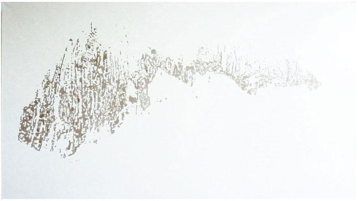 <b>Landschaft 14</b><br />2010<br />Dispersion und Lack auf Papier<br />135 cm x 180 cm