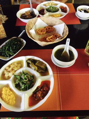 Typisches burmesisches essen