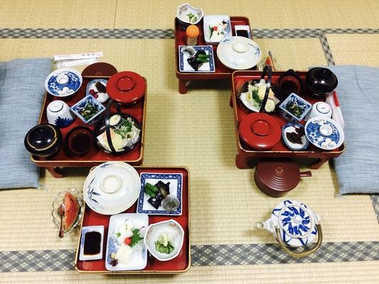Abendessen im Tempel Jokiin Koyasan