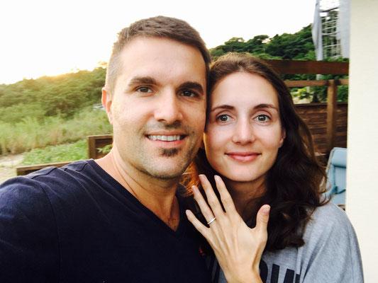 Verlobung auf der Liebesinsel Kouri Island