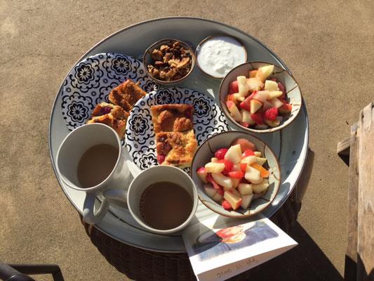 Frühstück am Pool in Sonoma