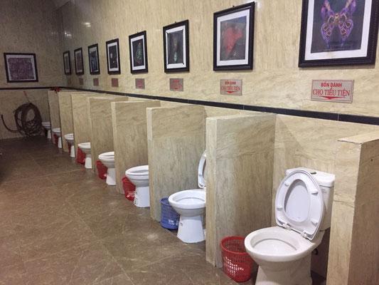 Kollektiver Toilettenbesuch