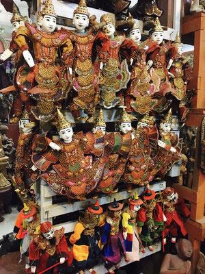 Typische burmesische Marionetten (für Puppet Show)