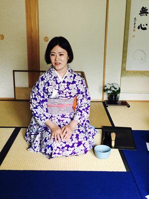 Teezeremonie in Camilla's Kyoto