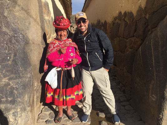New friend in Ollantaytambo