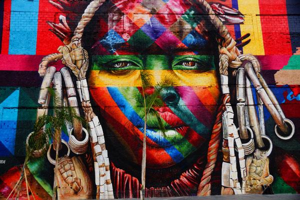Riesen Graffiti in Rio