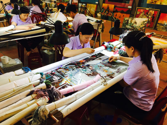 Vietnamesisches Kunsthandwerk - Faden Technik Bilder