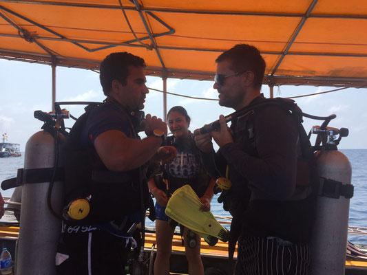 Tauchgang um den Sailrock mit indischem Tauchbuddy Arnosh