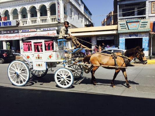 Typische Kutsche aus der britischen Kolonialzeit