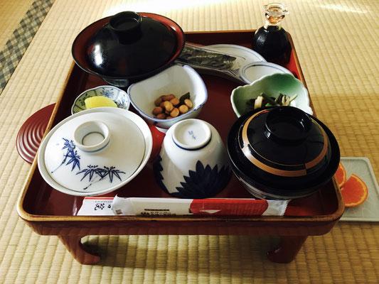 Essen im Tempel Jokiin Koyasan