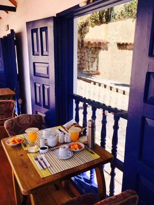 Frühstück im Hotel Rumi Wasi in Cusco