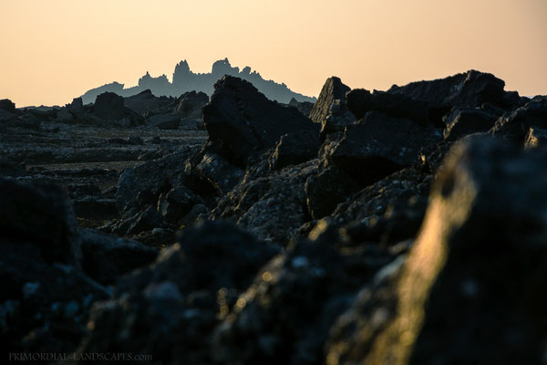 Morning light on the chaotic lava