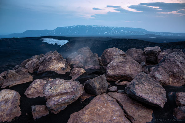 Looking towards Bláfjall from the highest point of Ketildyngja. Hot ground there!