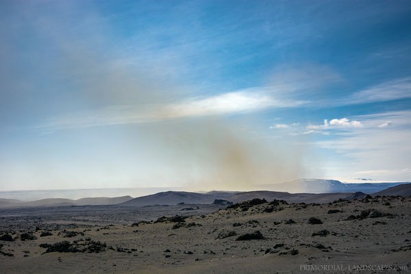 A distant dust storm (Kistufell to the right)