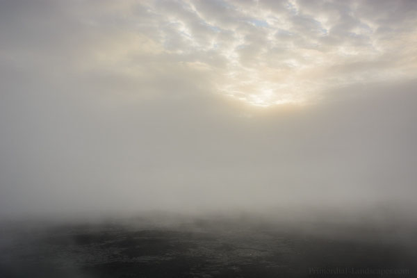 Repeatedly fog arrived and disappeared again...