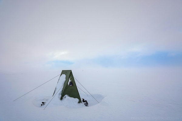 The smallest room (and centre of communication during the lasting snowstorm as the hut is shielded very well... ;)