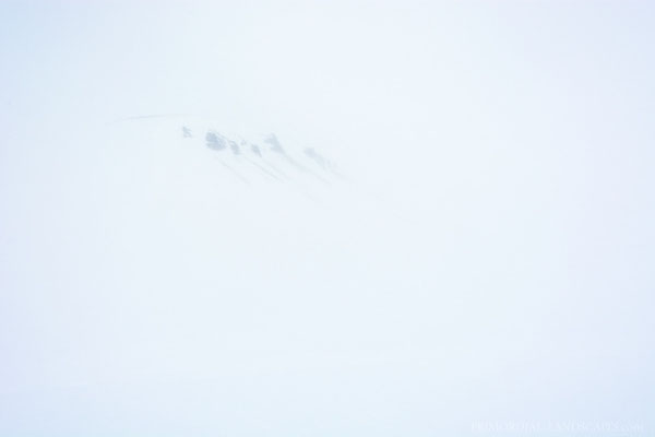 The fun was over soon, this is what we saw of the Hvammfjöll...