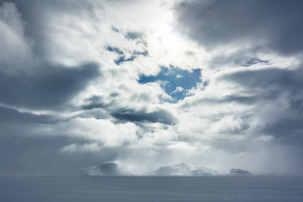 The Hvammfjöll from north during another short break in the storm clouds