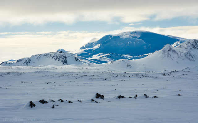 Mount Kollur, a part of the Norðurfjöll mountains that surround Askja