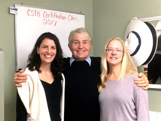 Don Ash with recently certified CP Practitioners, Emelia Brogna, DPT, CSTA-CP, (left) and Carol Ann Kelsey-Smith, LMT, CSTA-CP, (right). Both received their CSTA-CP certification in November 2017.